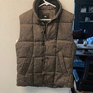 Brown tweed NWOT women's vest Size M